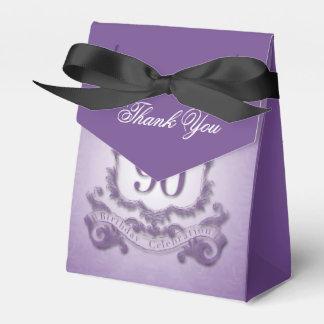 Vintage Purple Frame 90th Birthday Favor Box