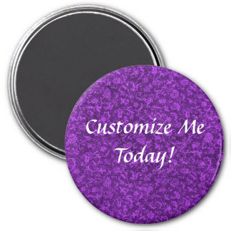 Vintage Purple Grape 3 Inch Round Magnet