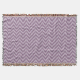 Vintage Purple Lilac Ikat Chevron Zigzag Throw