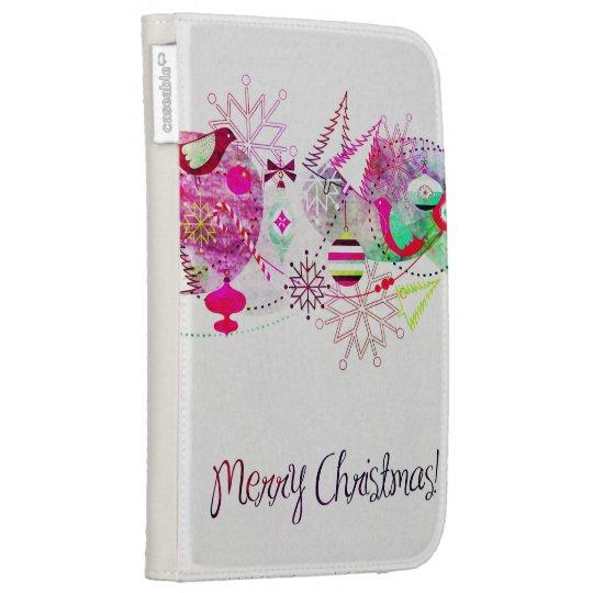 Vintage Purple Merry Christmas Ornaments Kindle Cover