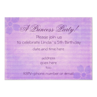 Vintage purple Princess party birthday invitation