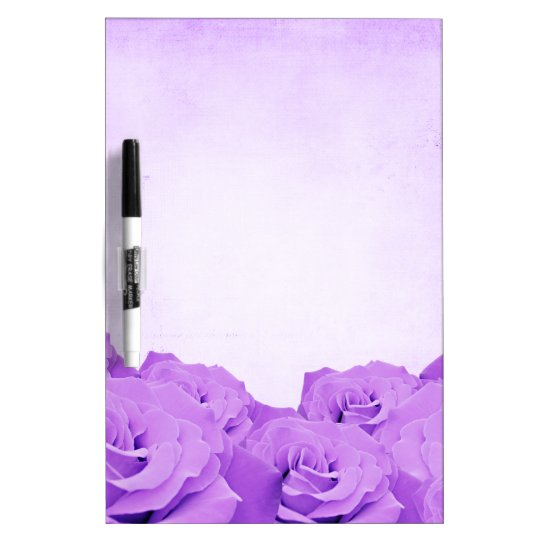 Vintage Purple Rose Dry Erase White Board