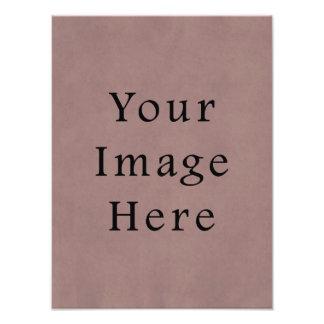 Vintage Purple Rose Pink Violet Parchment Paper Photo Print