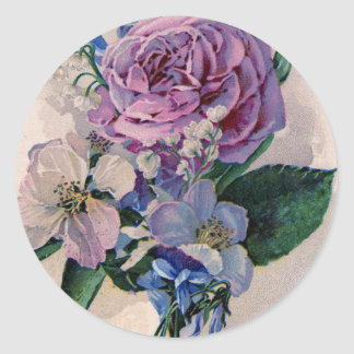 Vintage Purple Roses Sticker