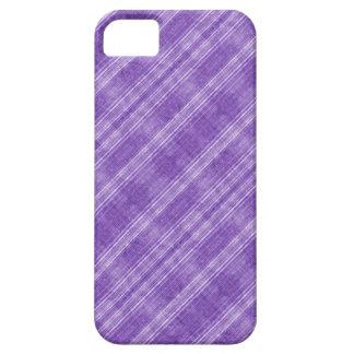 Vintage purple stripes iPhone 5 cases