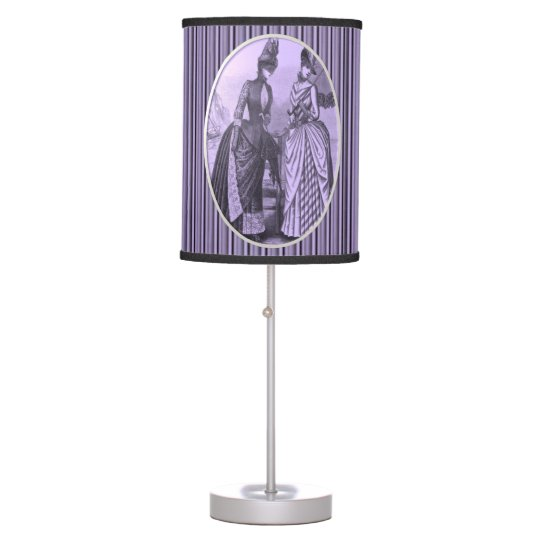 vintage purple stripped womens lamp shade