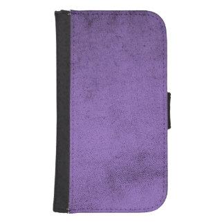 Vintage Purple Velvet Fabric Texture Samsung S4 Wallet Case