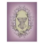 Vintage Purple Victorian corset fashion Post Card