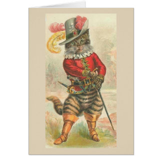 Vintage Puss in Boots, Card