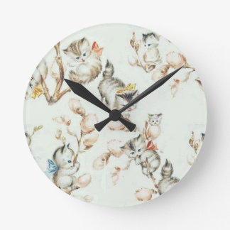 Vintage Pussy Willow Wall Clocks