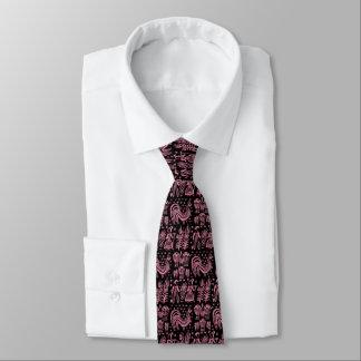 Vintage Pyrex Pattern - Butterprint Pink Tie