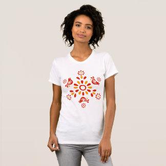 Vintage Pyrex Pattern - Friendship (Red Birds) T-Shirt