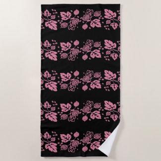 Vintage Pyrex Pattern - Gooseberry Pink Beach Towel