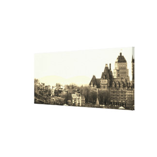 Vintage Quebec City Canvas Print