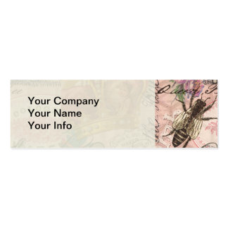 Vintage Queen Bee Beautiful Girly Collage Business Card Template