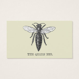 Vintage Queen Bee Illustration Business Card