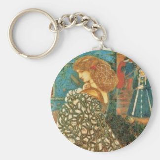 Vintage Queen Guinevere Basic Round Button Keychain