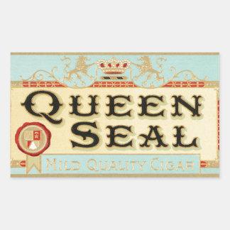 Vintage Queen Seal Cigar Label