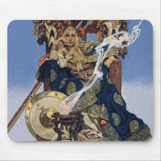 Vintage Queen Warrior Woman Mouse Pad