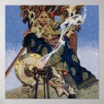 Vintage Queen Warrior Woman Poster