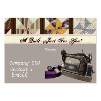 Vintage Quilting Business Card