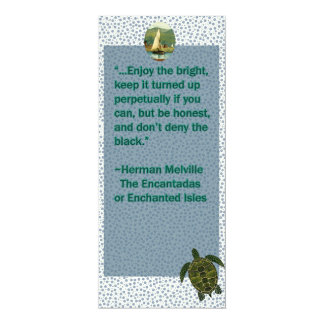 Vintage quote turtle and boat bookmark card