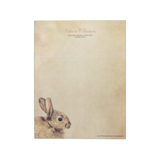 Vintage Rabbit Sketch Personalized Notepad