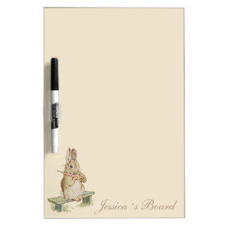 VINTAGE RABBIT WITH A CARROT, BUNNY WRITING BOARD