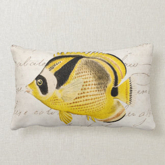Vintage Raccoon Butterfly Fish - Antique Hawaiian Pillows