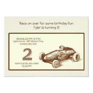 Vintage Race Car Invitation