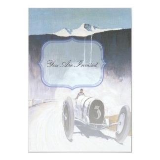 Vintage Race Car Invitations