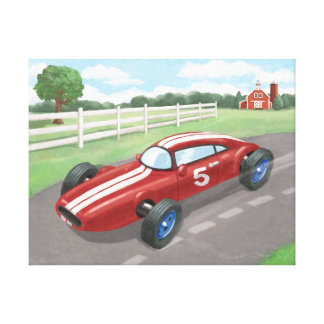 Vintage Racer: Cherry Red Canvas Print