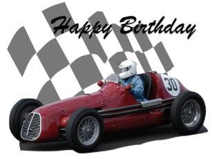 Racing Car Birthday Cards Zazzle Ca