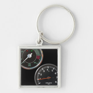 Vintage racing instruments: Classic car gauges Keychain