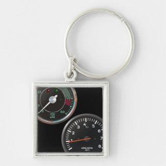 Vintage racing instruments: Classic car gauges Keychain