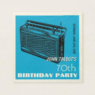 Vintage Radio 70th birthday Party Paper Napkins