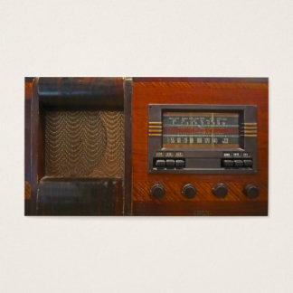 Vintage Radio Business Card