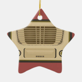 Vintage Radio Ceramic Ornament
