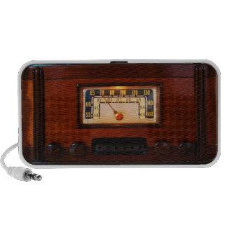 Vintage Radio - Dark Wood iPhone Speakers