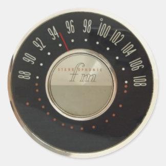 Vintage Radio Dial Classic Round Sticker