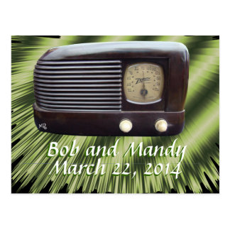 Vintage Radio Invitation-customize Postcard