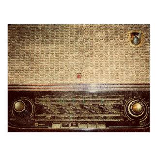 Vintage radio postcard