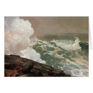 Vintage Raging Ocean Greeting Card