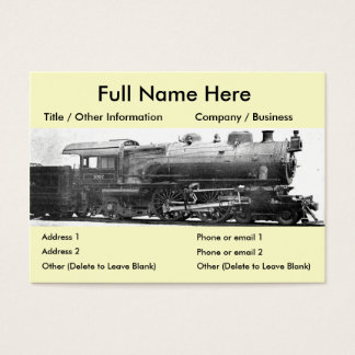 Vintage Railroad Photograph Bookmark Business Card