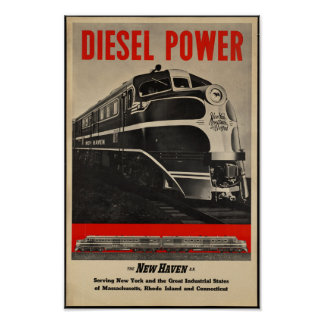 Vintage Railroad Travel Poster