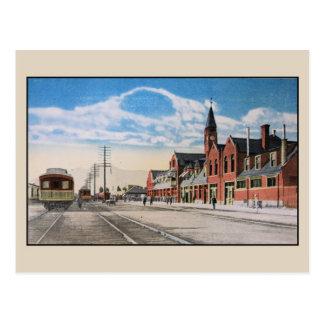 Vintage Railroad Union Station Ogden Utah Postcard