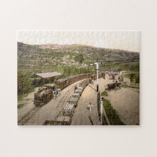 Vintage Railway & carriages, Festinog Wales c1900 Jigsaw Puzzle