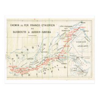 Vintage, Railway? franco_Ethiopian Postcard