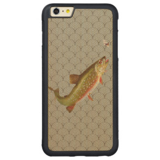 Vintage rainbow trout fly fishing carved® maple iPhone 6 plus bumper case