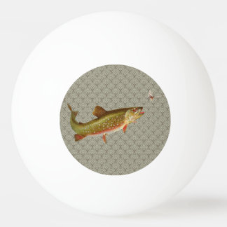 Vintage rainbow trout fly fishing ping pong ball